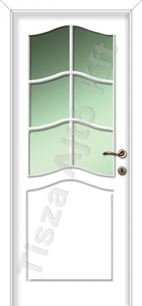 üveges festett beltéri ajtó