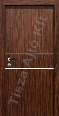 króm csíkos belső ajtó dió