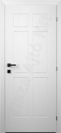 Festett fehér beltéri ajtó 7. minta