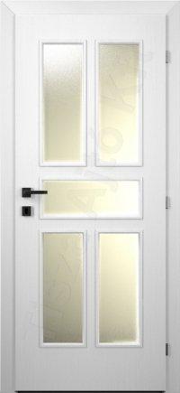 Fehér festett belső ajtó 10. üvegezett minta
