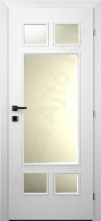 Festett belső ajtó 13. minta üveges