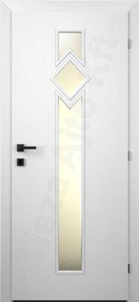 Festett belső ajtó 69. üveges minta
