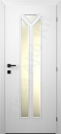 Festett fehér belső ajtó 72. üvegezett minta