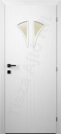 Fehér festett ajtó 76. típus üveges