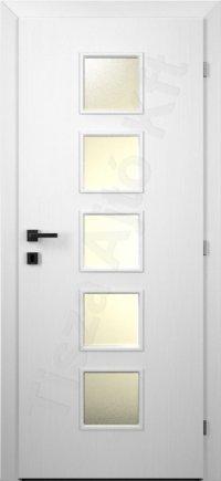 Festett ajtó 82. típus üvegezett