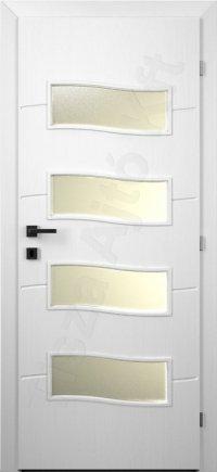 Fehér festett nyílászáró 109. kialakítás üvegezett