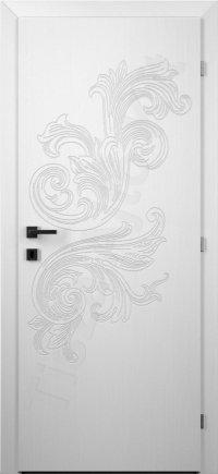 Festett fehér belső ajtó a1. minta