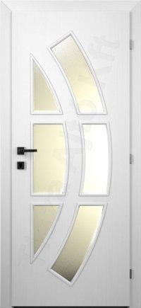 Festett MDF ajtó 31. minta üveges kialakítás