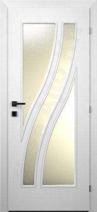 Festett ajtó MDF 48. minta üveges kialakítás