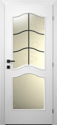 Festett ajtó MDF 106. minta üveges kialakítás