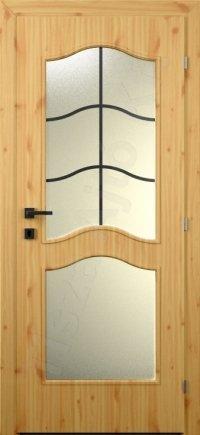 Laminált MDF belső ajtó 106. minta üveges kialakítás
