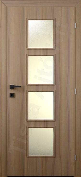 Laminált ajtó 36. kialakítás üvegezett
