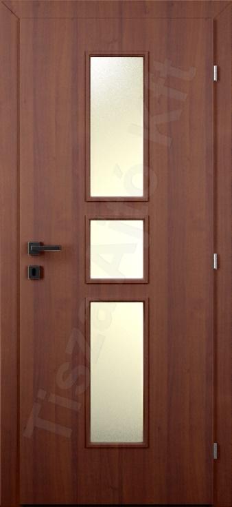 Laminált belső ajtó 40. minta üvegezett