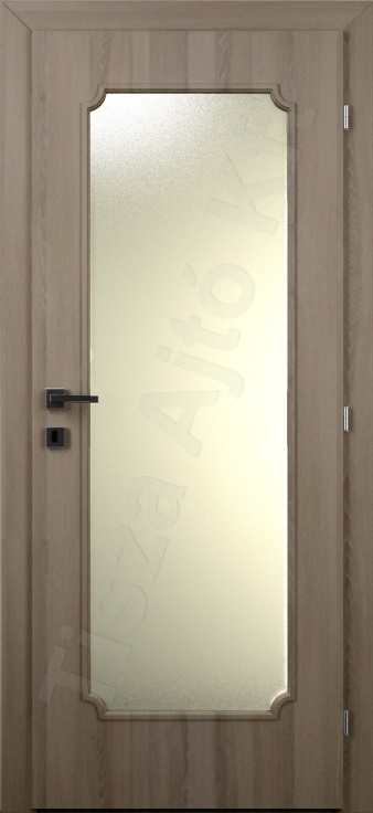 Laminált belső ajtó 54. kialakítás üvegezett