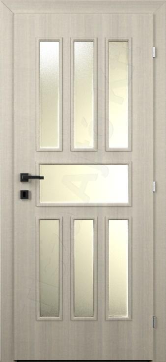 Laminált belső ajtó 58. minta üvegezett