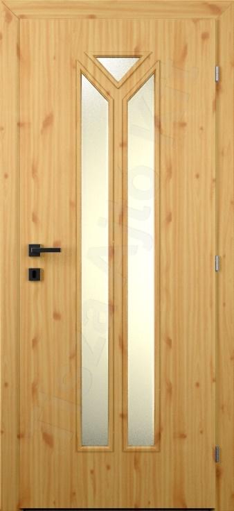 Laminált belső ajtó 72. kialakítás üvegezett