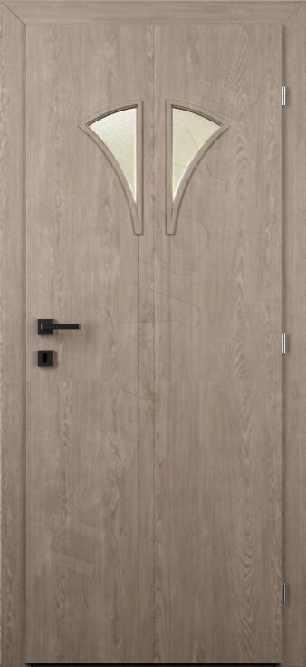 Vákuumfóliás ajtó 76. minta üvegezett