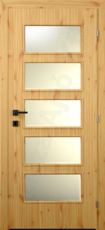 Vákuumfóliás ajtó 101. típus üveges
