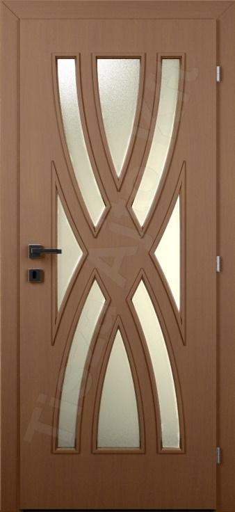 Vákuumfóliás belső ajtó 119. típus üveges