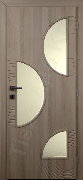 Vákuumfóliás belső ajtó 126. kialakítás üvegezett